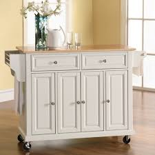 kitchen kitchen cart with trash bin portable microwave cart