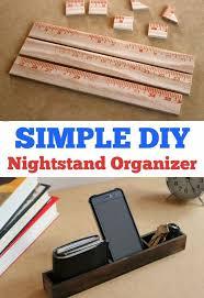 simple diy nightstand organizer hometalk