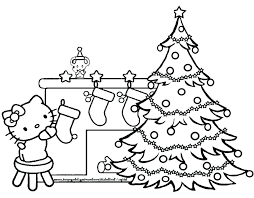 colouring pages tree ornaments plain coloring page trees