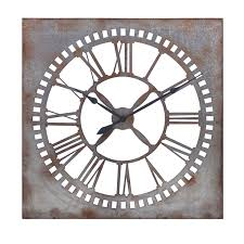 imax 88916 murphy galvanized clock hope home furnishings and