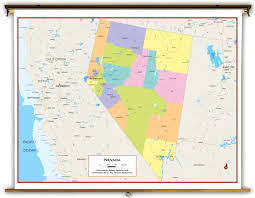 State Of Nevada Map by Nevada State Political Classroom Map From Academia Maps