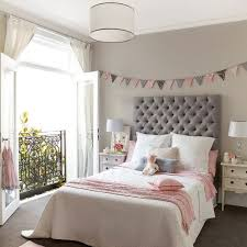 Pink Bedroom Designs For Girls Pink And Gray U0027s Room Features Walls Painted A Warm Gray Lined