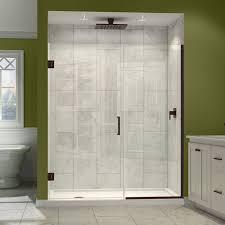 Oil Rubbed Bronze Frameless Shower Door by Bathroom Cool Bathroom Design With Frameless Sliding Shower Door