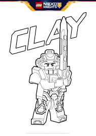 clay coloring page colouring page activities nexo knights