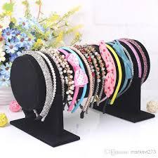headband stand online cheap large black velvet headband buckle rack hoop