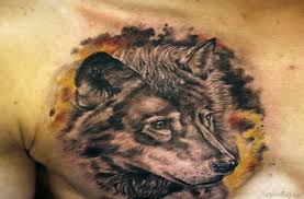 50 magnificent wolf tattoos for chest
