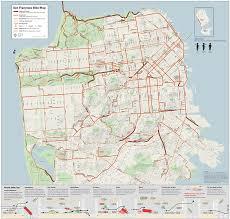 san francisco on map san francisco bike map sfmta