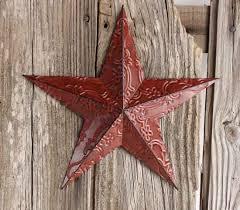 star decor for home red metal embossed barn star barn stars primitive decor