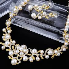 engagement jewelry sets aliexpress buy jewelry sets more pearl wedding engagement