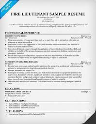 Firefighter Resume Templates Police Chief Resume Examples Chief Of Police Resume Samples