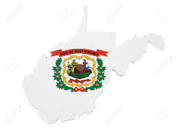 Virginia Blank Map by Shape 3d Of West Virginia Map With Flag Isolated On White