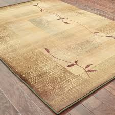 Wood Area Rug Weavers Generations 544g1 Green Beige Border Area Rug