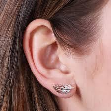 feather stud earrings feather stud earrings by angel notonthehighstreet