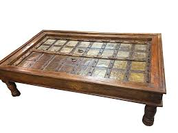 antique coffee table indian furniture handmade wood carving