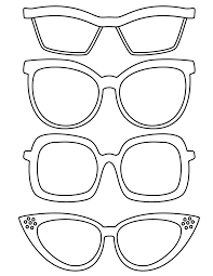 drawn spectacles printable pencil and in color drawn spectacles