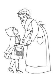 red riding hood coloring pages free kids coloring