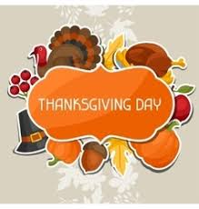 happy thanksgiving day background with vector image