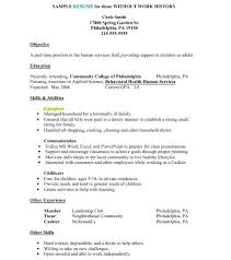 Resume With No Job Experience Sample by Resume For Work 16 Resume Work Social Worker Template This Cv