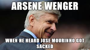 Mourinho Meme - best meme of arsene wenger reacting to jose mourinho getting fired