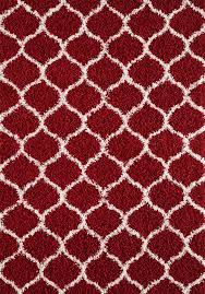 large modern red trellis shaggy carpet contemporary soft area rug