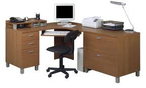 wood l wood l shaped officesks computersk photosign solid with