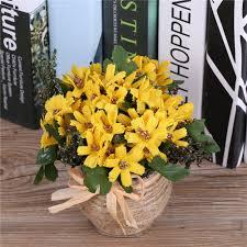 silk daisy flowers arrangements vase decorative artificial flower