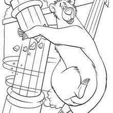 jungle book main characters coloring pages hellokids