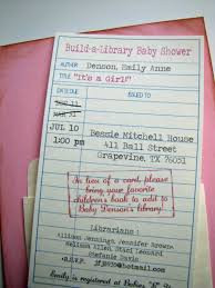 library card baby shower invitation gallery baby shower ideas