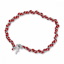 silver bracelet with cross charm images Sterling silver and red string bracelet with cross charm jewelry jpg