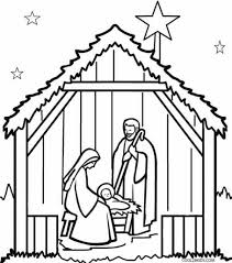 nativity scene coloring pages cut archives