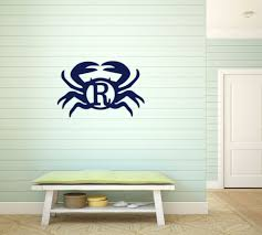 monogrammed home decor monogrammed wood home decor crab design u2013 maria nicole gifts