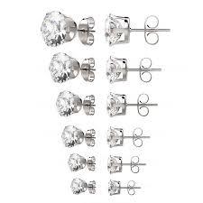 stainless steel stud earrings uhibros womens stainless steel stud earrings set hypoallergenic
