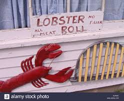 massachusetts cape cod lobster roll sign stock photo royalty free