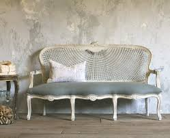 vintage louis xv french style cane upholstered setee carved