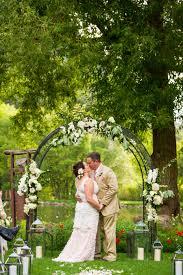 wedding arch log log utah wedding isaac wu photography