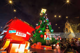 photos et images de melbourne lights up giant christmas tree made
