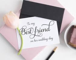 to my card best friend card etsy