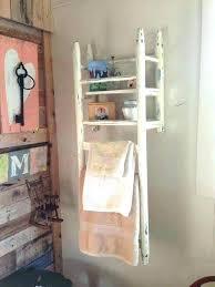 shelves in bathroom ideas bathroom storage ladder brilliant decor ideas for your bathroom