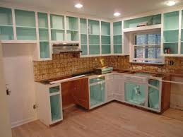 inside kitchen cabinets ideas paint inside of cabinets bright color kitchen ideas