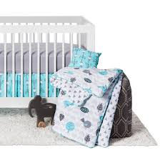 Blue And Gray Bedding Sweet Jojo Designs Earth U0026 Sky 11pc Crib Bedding Set Turquoise