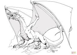 dnd dragon coloring page free printable coloring pages