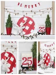 Christmas Decorations To Make Yourself - buffalo check christmas mantel landeelu com