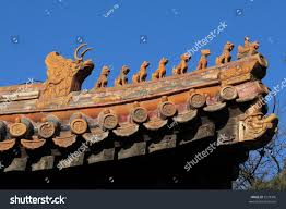 chinese imperial roof decoration roof charms stock photo 3279306