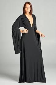 hi double slit maxi dress with low neckline critique u0027 boutique