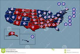 political us map us political map editorial stock image image 26600459