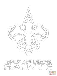 new orleans saints logo coloring page free printable coloring pages