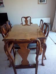 60s Style Furniture Vintage 60 U0027s Burr Walnut Epstein Style Dining Room Suite Table