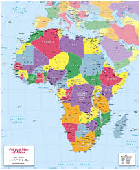 Africa Map Countries by Children U0027s Political Map Of Africa 12 99 Cosmographics Ltd
