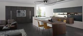 grey kitchen cabinet with wooden table for modern kitchen ideas