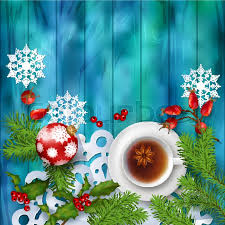 christmas tea party christmas tea party background top view background with